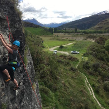 Outdoor climbing in Wanaka