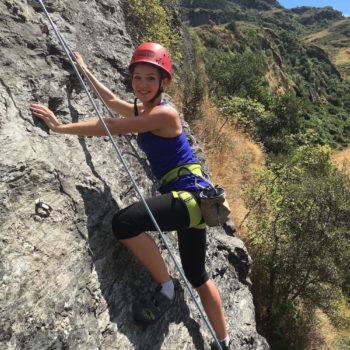 Climbing in the sun